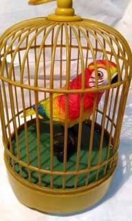 聲控鳥,聲控玩具,聲控,玩具~彩色鸚鵡聲控鳥