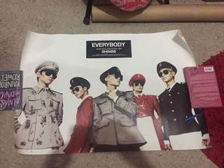 Used official poster shinee cnblue