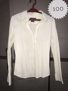 Banana republic white longsleeve