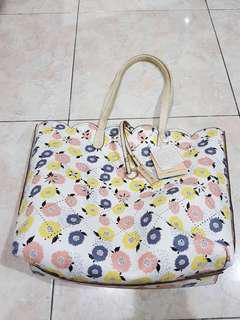 Mdwor Floral Tote Bag & Pouch from Japan
