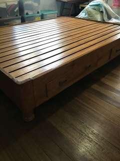 Bed frame hard wood