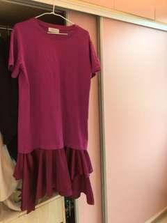 🚚 全新正韓紫色洋裝