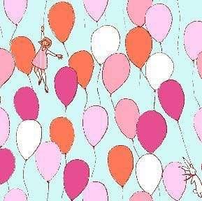 Sarah Jane Balloons fabric