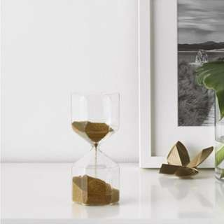 IKEA TILLSYN 透明玻璃裝飾沙漏[16cm]
