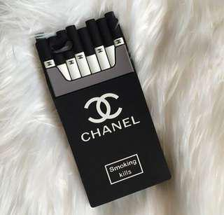 "CHANEL ""SMOKING KILLS"" CASE FOR IPHONE 7/8"