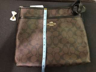 Authentic New Coach Signature File Crossbody Bag