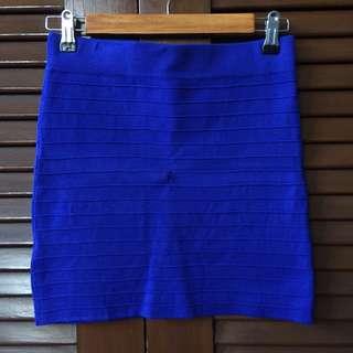 Promod Dark Blue Bandage Skirt