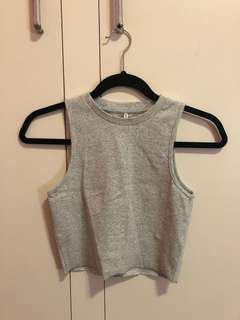 Agent ninetynine grey crop top