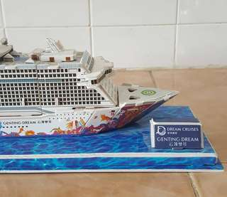 Dream cruise genting dream model ship