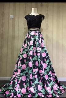 Floral print Ball gown