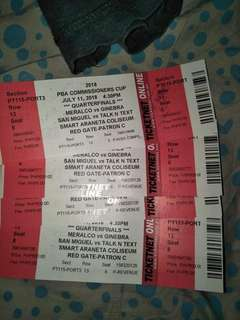 PBA TICKET PATRON