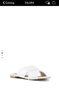 Zalora fringed cross sandal