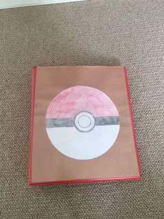 Pokémon book with around 256 cards