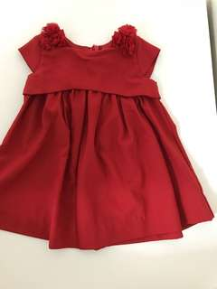 Poney Red Dress (6-12mths)