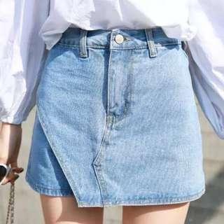 98% 新 斯文牛仔裙褲 ~ Size: M