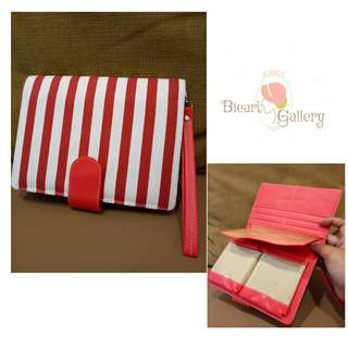 Dompet zebra merah