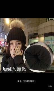 🚚 韓版百搭學生毛球毛線帽加厚保暖