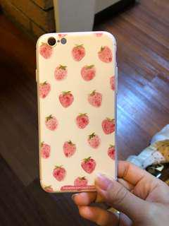 Brand new cute pink strawberry iPhone 6 case