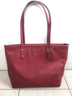 CLEARANCE! Authentic Coach Cross Grain City Zip Tote