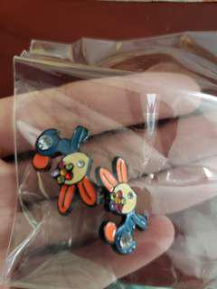 兔仔耳環,earrings