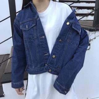 [BRAND NEW + POST.] Denim Jacket (Dark Blue)