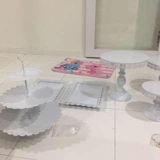 [RENTAL] Dessert Table Stand 6pc Set