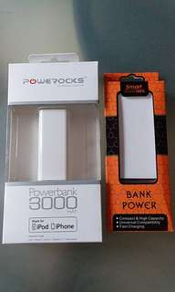 Powerbanks set of 2- android and iphones or ipad
