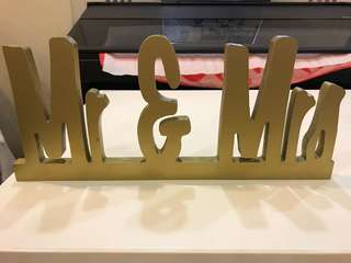 Wedding decor Mr & Mrs signage