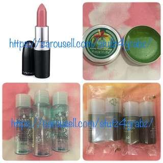 MAC Lipstick Angel / The Body Shop Glazed Apple Lip Balm / Bifesta Empty Containers / Nature Republic Snail Solution Emulsion / Skin Booster