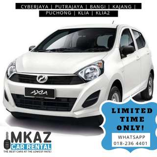AXIA FOR RENT!