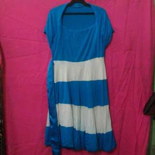 FREE ITEM! Blue and White Dress