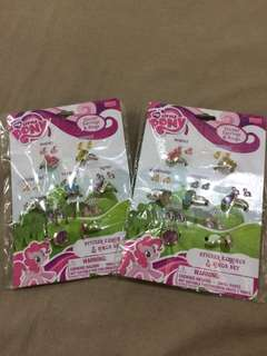 My Little Pony Sticker Earrings and Rings Set (2 sets)