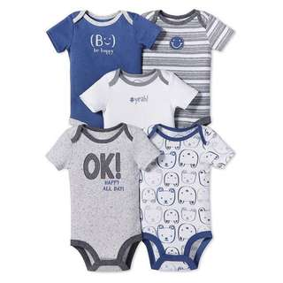 100% Organic Cotton Baby Bodysuits Onesies Rompers by Lamaze