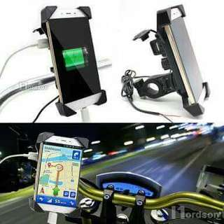 Cp holder with usb charger-motorcycle