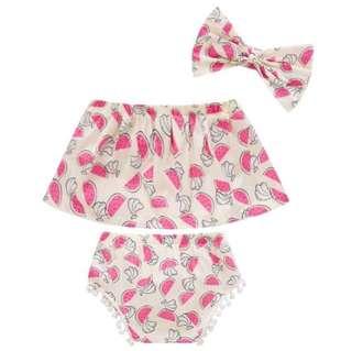 Baby Girl Pom Pom Set