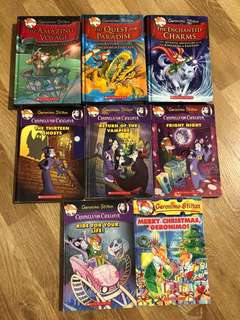 PL Geronimo Stilton - 3 hardbacks + 5 softbacks