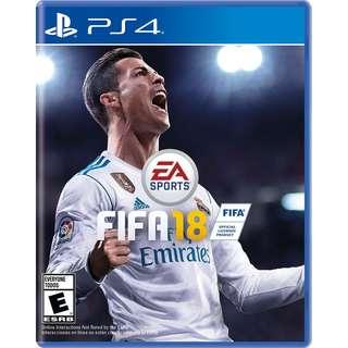 FIFA 18 BLURAY DISC PS 4