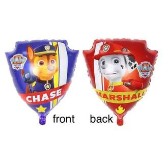 """CHASE MARSHALL PAW PATROL BACK TO BACK 20"""" BALLOON 1 pc"""