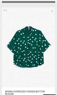 Monki Oversize Hidden Button Blouse