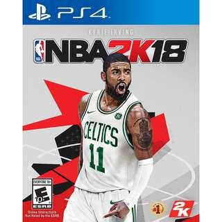 NBA 2K18 BLURAY DISC PS 4
