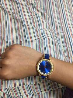 Quartz blue watch
