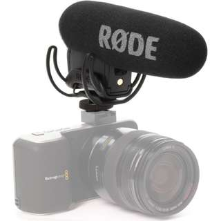 Rode VideoMic Pro with Rycote Lyre Shockmount for DSLR or Video Camera