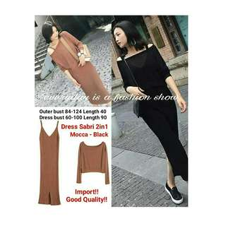 IMPORT ! (nzz) Dress Sabri 2in1 125.000