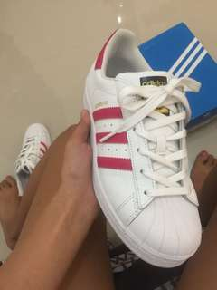 AUTHENTIC ADIDAS SUPERSTAR PINK STRAP