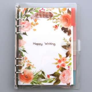 [PO] #1 customisable 6 ring binder notebook happy writing set (A5/A6)