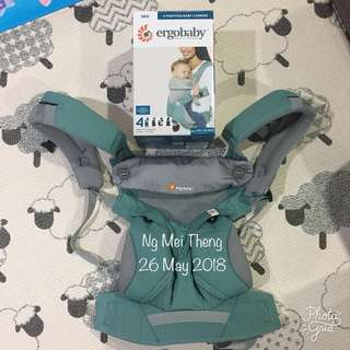 Genuine ERGOBABY 360 Cool Air Mesh in Icy Mint + accessory