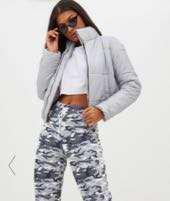 Grey Silver Puffer Jacket