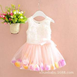 Girl princess gauze flower skirt