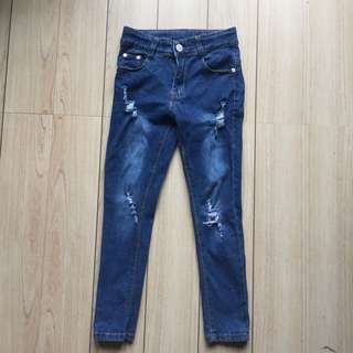 COKO TATTERED PANTS 7 to 8 YEARS OLD