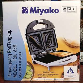 Miyako toaster / pemanggang roti dan telur